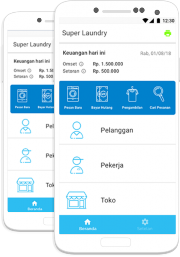 foto user interface aplikasi cleanlab pos